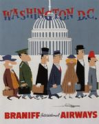 Vintage Travel Poster Washington DC